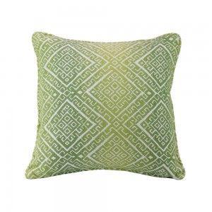 כרית נוי מבוך מעוין ירוק