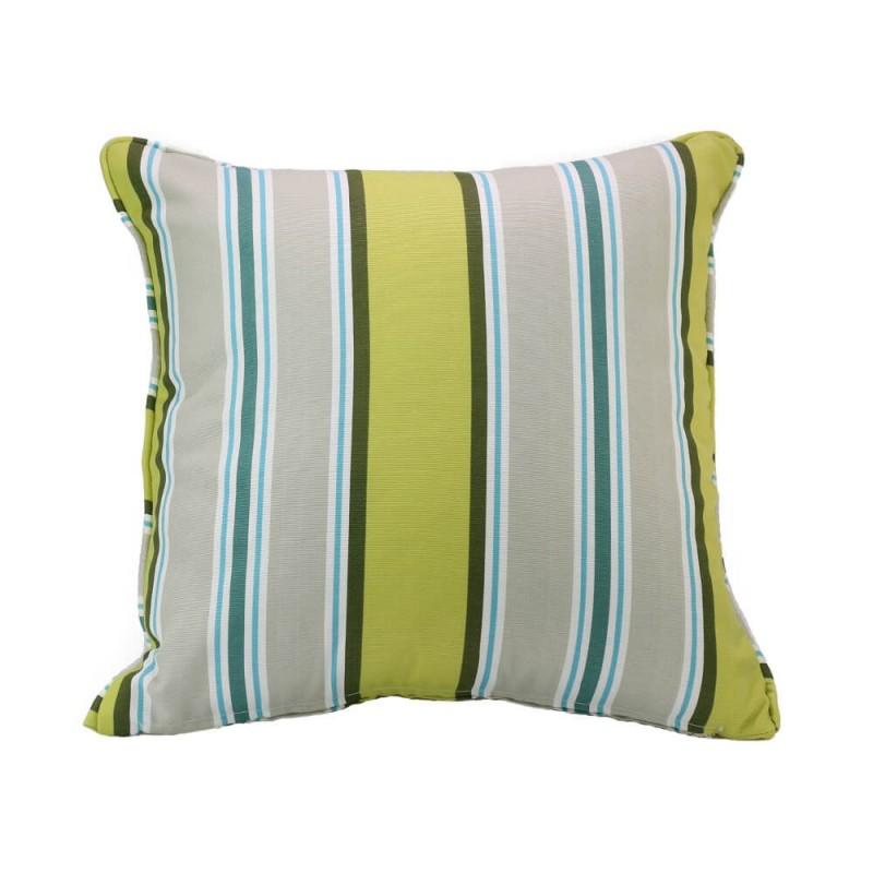 כריות נוי מעוצבות, כרית נוי פסים שונים בגווני ירוק-בז'-כחול