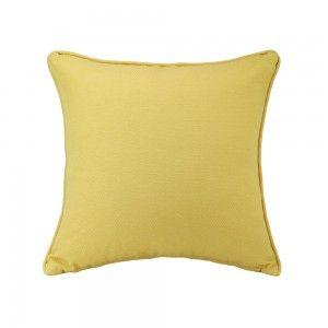 כרית נוי זיגזג צהובה