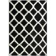 שטיח גיאומטרי שחור לבן
