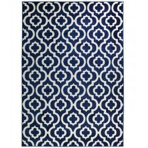 שטיח מודרני אדוארד כחול נייבי ולבן