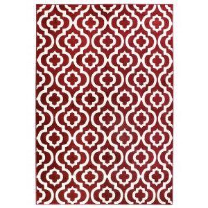 שטיח מודרני אדוארד בורדו לבן