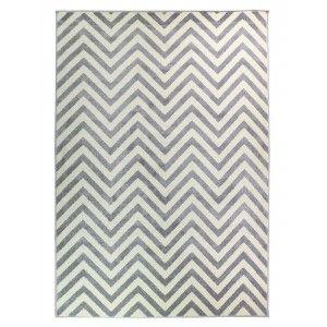 שטיח מודרני הנרי אפור לבן