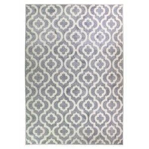 שטיח מודרני אדוארד אפור לבן