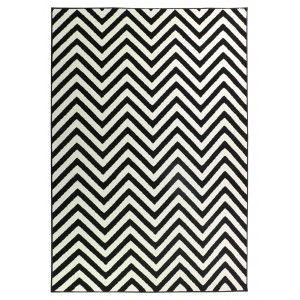 שטיח הנרי מודרני שחור לבן
