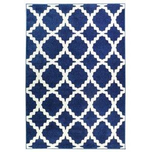 שטיח מודרני אדגר כחול לבן