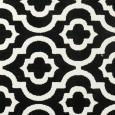שטיח מודרני אדוארד שחור לבן