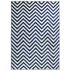 שטיח מודרני הנרי כחול נייבי ולבן