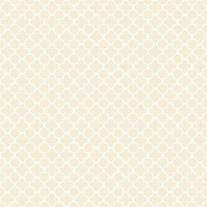 טפט גיאומטרי פרחי תלתן (רקע שמנת)