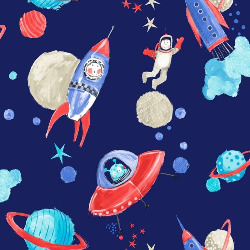 טפטים מעוצבים , טפט אסטרונאוטים בחלל כהה