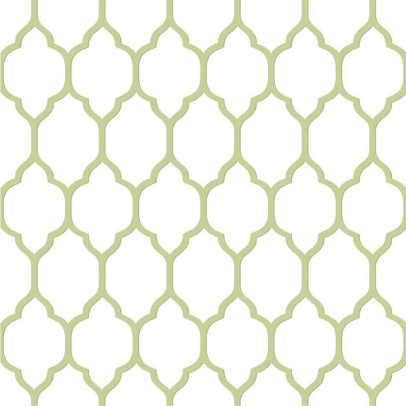 טפט גיאומטרי מדליונים קו ירוק