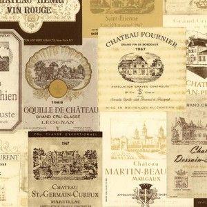 טפט קולאז׳ תוויות של יין
