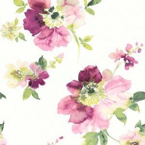 טפט פרחים צבעי מים 4