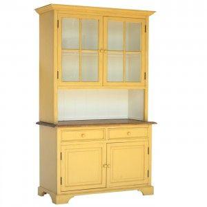 ארון ויטרינה צהוב
