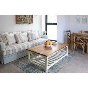 שולחן סלון נני  מעץ ושמנת