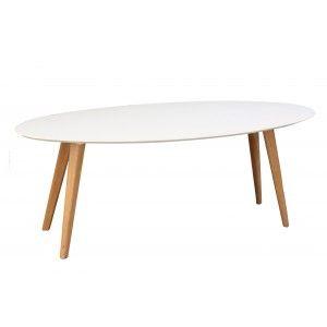 שולחן אליפסה - שמנת