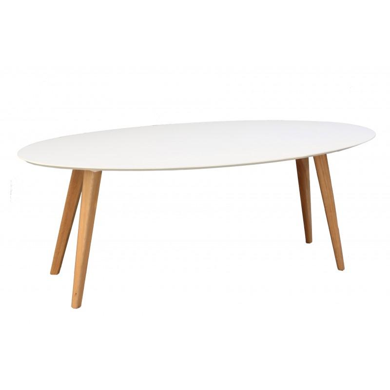 שולחן אליפסה שמנת
