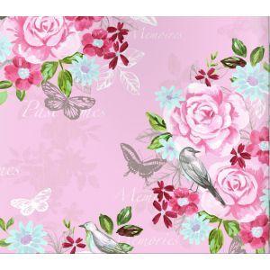 טפט פרחים פרפרים וציפורים 2