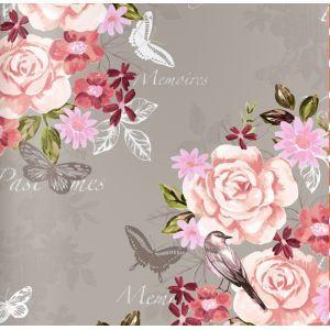 טפט פרחים פרפרים וציפורים 3