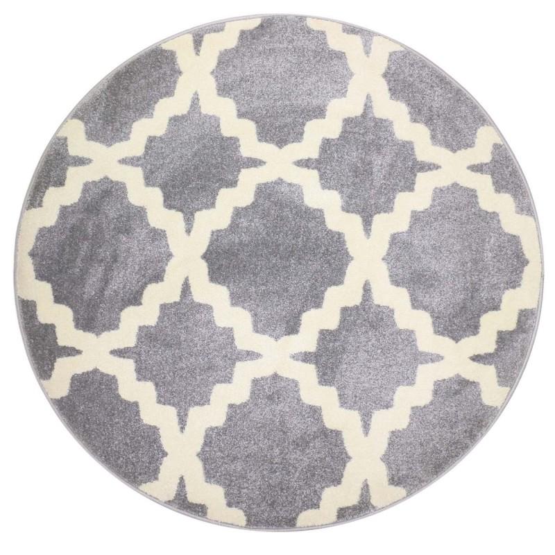 שטיח אדגר אפור עגול