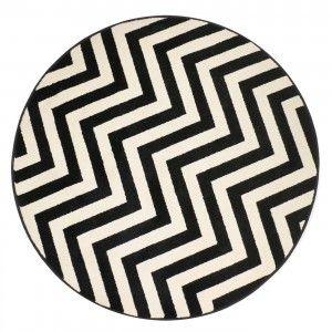 שטיח הנרי שחור עגול