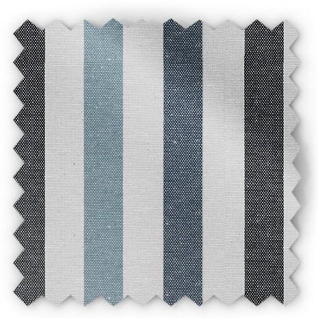בד פסים - כחול, תכלת ושחור - ליאונה 9