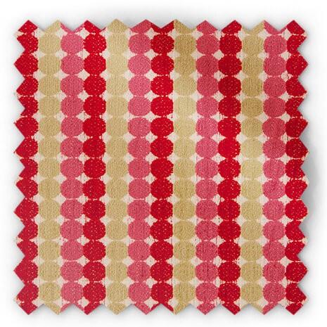 בד נקודות בגווני ירוק, ורוד ואדום - סמואה 11