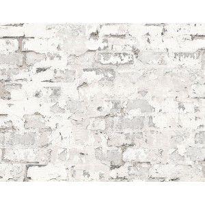 קיר לבנים חשוף חלקית