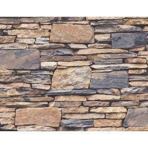 קיר אבנים טבעיות - כחול מעושן