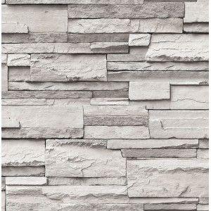קיר אבן טבעית - אפור לבן