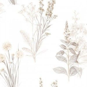 טפט פרחים עם עלים
