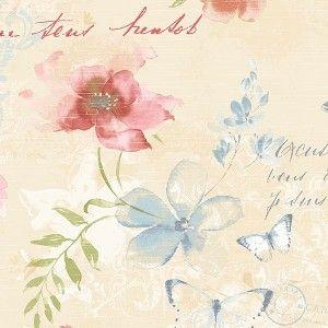 טפט פרחים ופרפרים