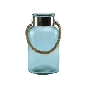 כד  חלב זכוכית כחול