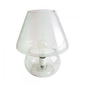 מנורת שולחן זכוכית