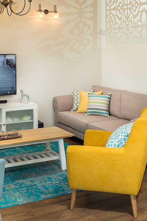 התאימו את השטיח לטקסטיל בסלון